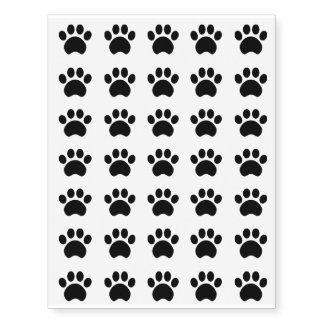 Paw Prints Temporary Tattoos