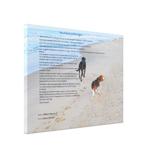 Paw Prints Wrapped Canvas Gallery Wrap Canvas