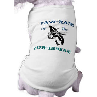 Paw-rates of the Cur-ibbean! Pet Tee Shirt