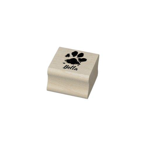 Paw Return Address Rubber Stamp