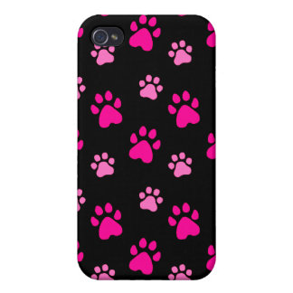 Paw s Pink Black  iPhone 4/4S Cover