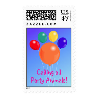 Paw-shaped balloon bouquet_Party Animal postage