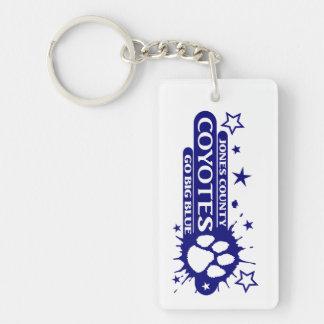Paw Splash in Blue Keychain