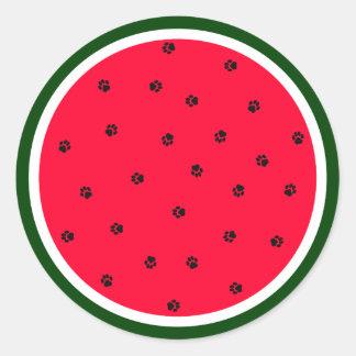 Paw-termelon Sticker