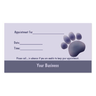 Paw Tracks Veterinarian Business Apointment Card 2 Business Card