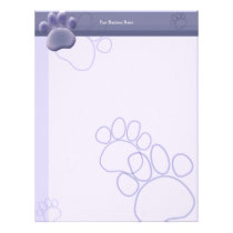 Paw Tracks Veterinarian Business Letterhead 2
