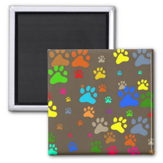 Paw Wallpaper 2 Inch Square Magnet