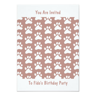 "Paw Wallpaper, You Are Invited, 5"" X 7"" Invitation Card"