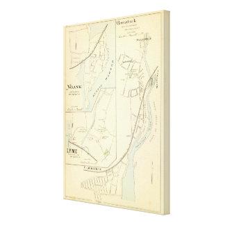 Pawcatuck, Noank, Lyme Impresión En Lona