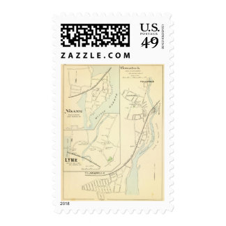 Pawcatuck, Noank, Lyme Timbre Postal