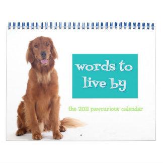 Pawcurious 2011 Calendar