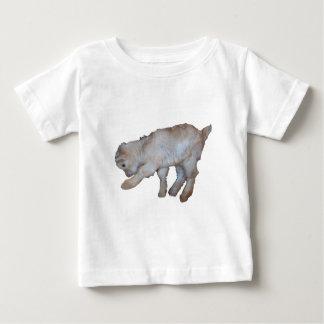 Pawing Tan Baby Goat Baby T-Shirt