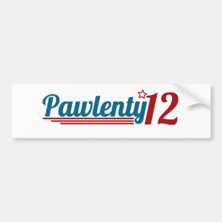 Pawlenty '12 bumper sticker
