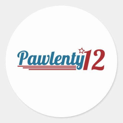 Pawlenty '12 etiqueta redonda