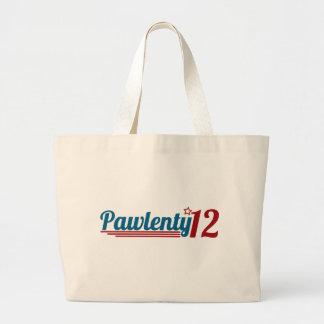 Pawlenty '12 jumbo tote bag