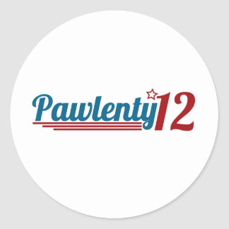 Pawlenty '12 pegatina redonda