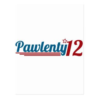 Pawlenty '12 postcard