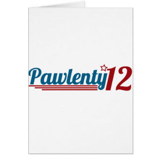 Pawlenty '12 tarjeta de felicitación