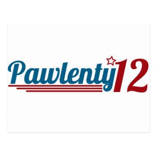 Pawlenty '12 tarjeta postal