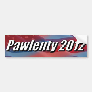 Pawlenty 2012 car bumper sticker