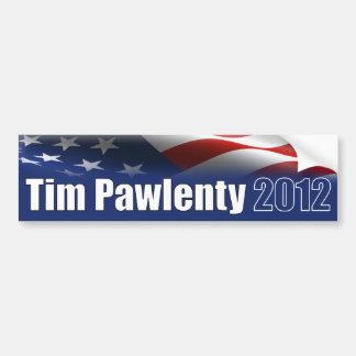 Pawlenty 2012 pegatina de parachoque
