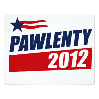 PAWLENTY 2012 CUSTOM ANNOUNCEMENTS