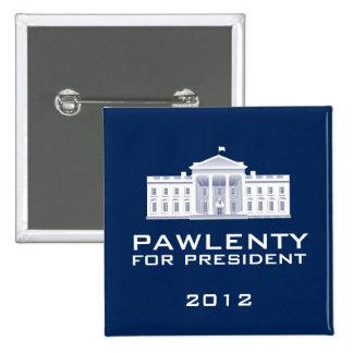 Pawlenty 2012 pin cuadrada 5 cm