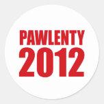 PAWLENTY 2012 ROUND STICKER