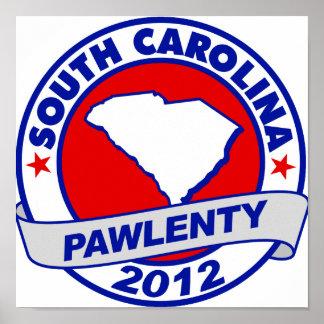 Pawlenty - Carolina del Sur Poster