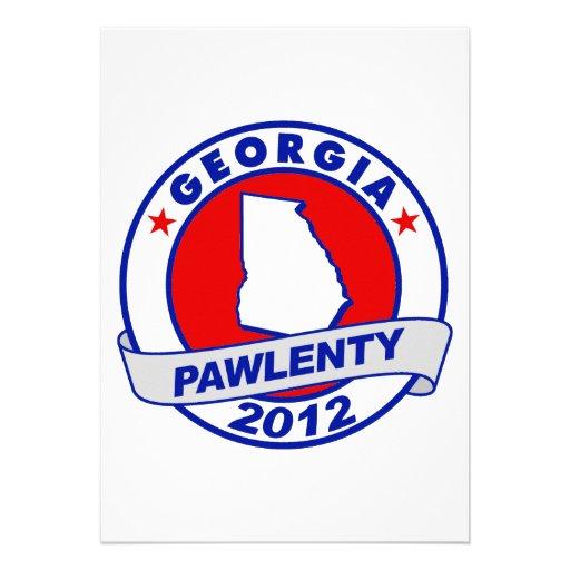 Pawlenty - georgia custom announcements