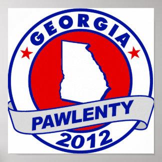 Pawlenty - Georgia Poster