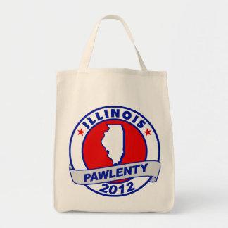 Pawlenty - illinois grocery tote bag
