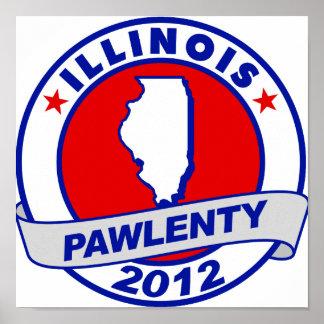 Pawlenty - Illinois Posters