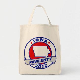 Pawlenty - iowa grocery tote bag