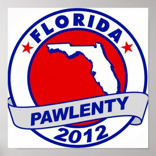 Pawlenty - la Florida Póster