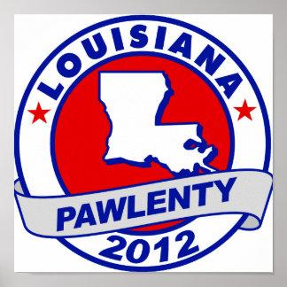 Pawlenty - lousiana poster
