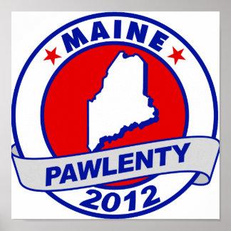 Pawlenty - Maine Poster