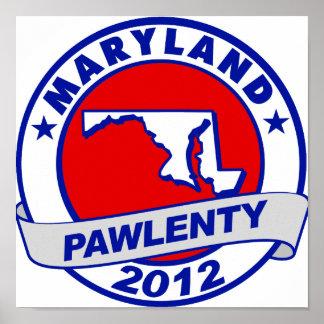 Pawlenty - Maryland Impresiones