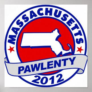 Pawlenty - Massachusetts Posters