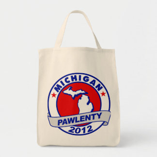Pawlenty - michigan grocery tote bag
