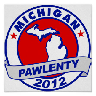 Pawlenty - Michigan Poster
