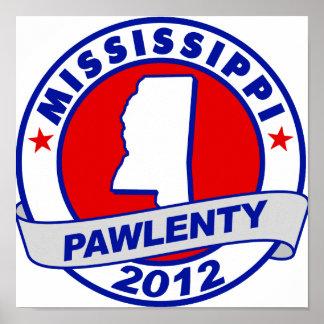 Pawlenty - Mississippi Poster