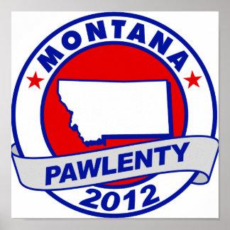 Pawlenty - Montana Poster