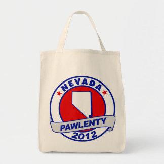 Pawlenty - nevada grocery tote bag