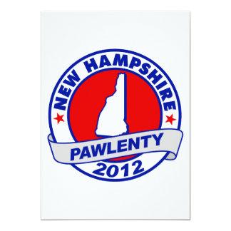 """Pawlenty - New Hampshire Invitación 5"""" X 7"""""""
