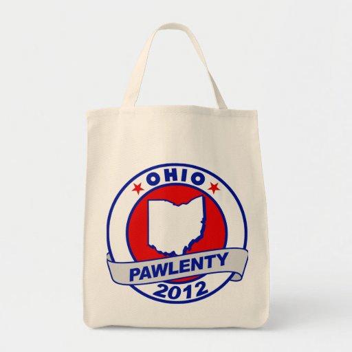 Pawlenty - ohio grocery tote bag