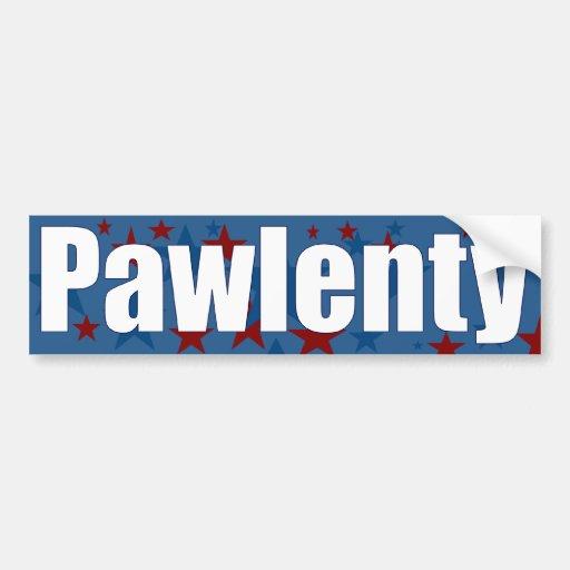 Pawlenty para el presidente pegatina de parachoque