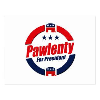 PAWLENTY PARA el PRESIDENTE (republicano) Postal