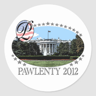 Pawlenty White House 2012 Classic Round Sticker