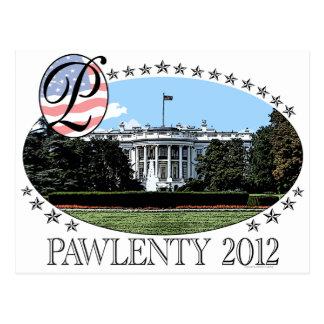 Pawlenty White House 2012 Post Card